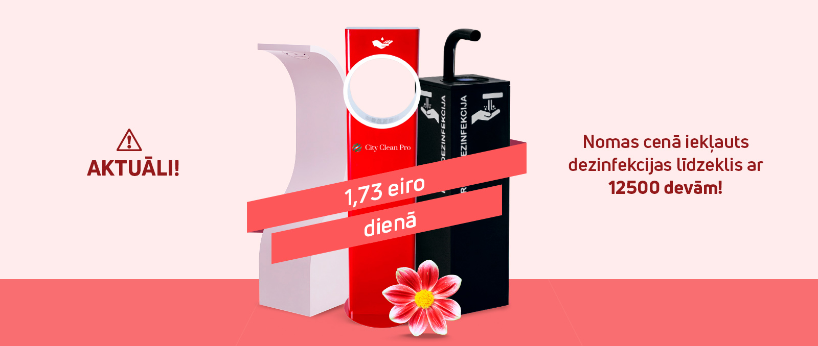 Bezkontakta roku stends / dozators / dispensers 2-lv
